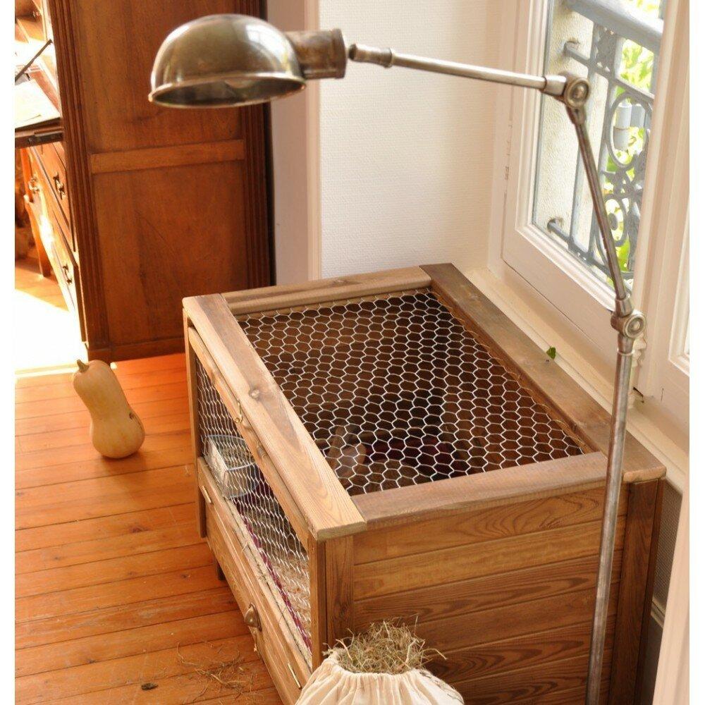 Cage lapin en bois cage d co pour lapins for Cage exterieur pour lapin