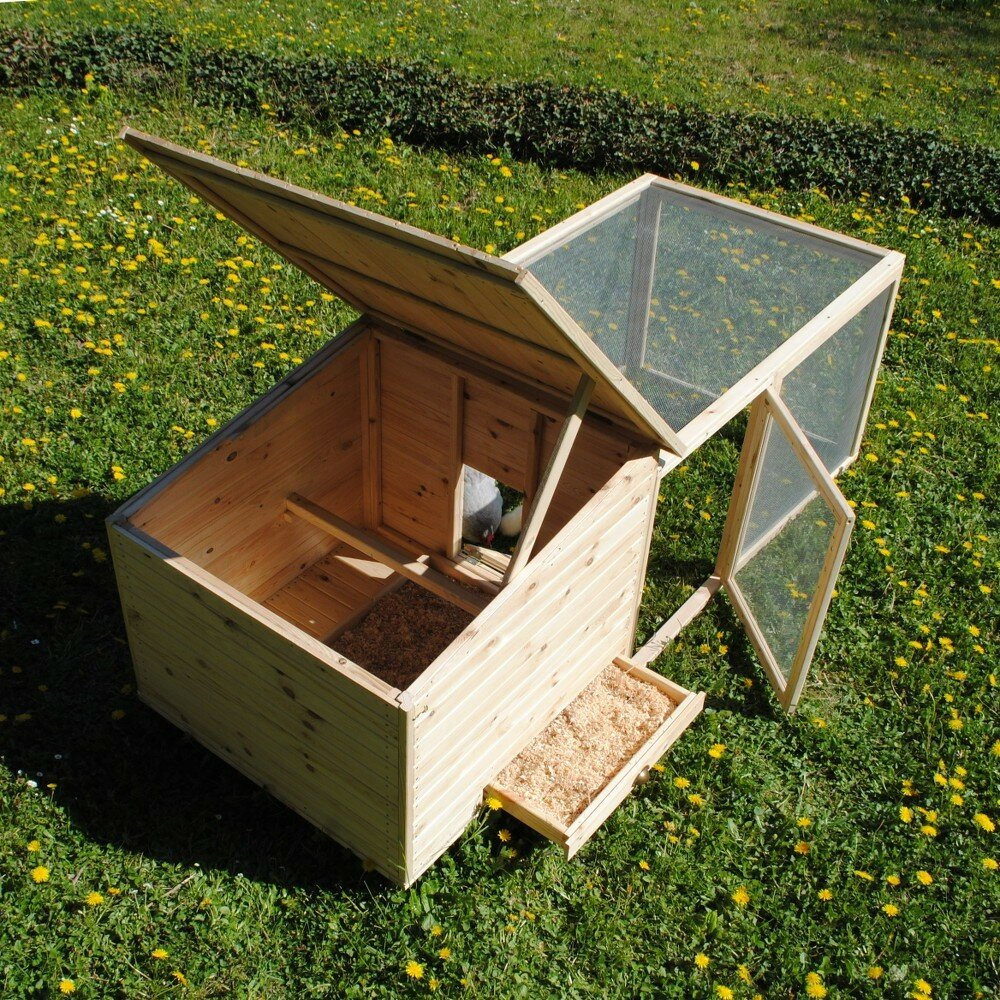 poulailler en kit poulailler en bois de pin. Black Bedroom Furniture Sets. Home Design Ideas