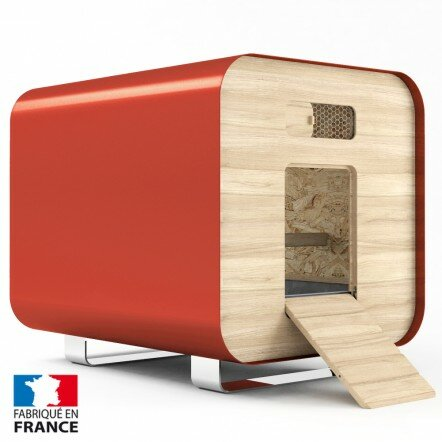 Poulailler design Container ROUGE