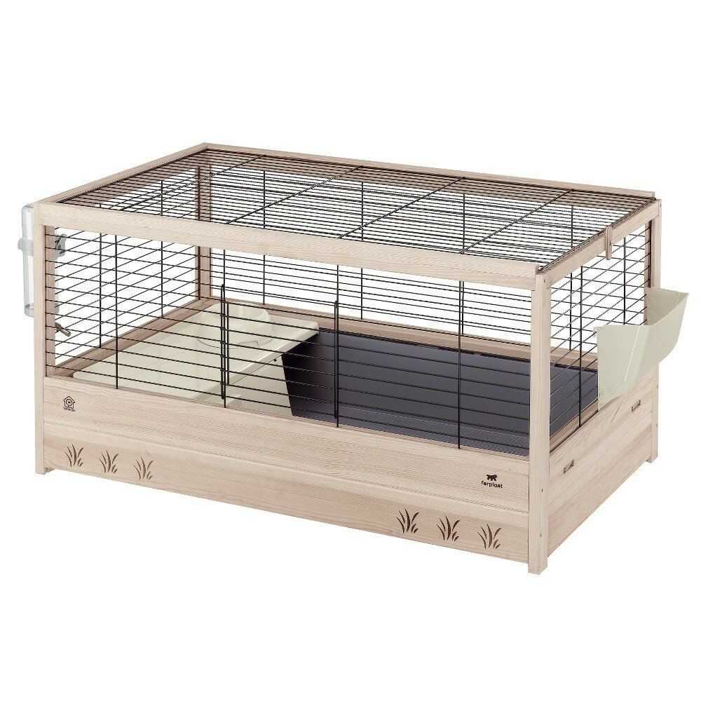 cage lapin en bois cage d co pour lapins clapier en bois. Black Bedroom Furniture Sets. Home Design Ideas
